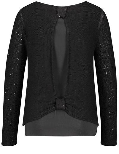 Gerry Weber Pullover Long Sleeve Crew-neck Sweater Glamor