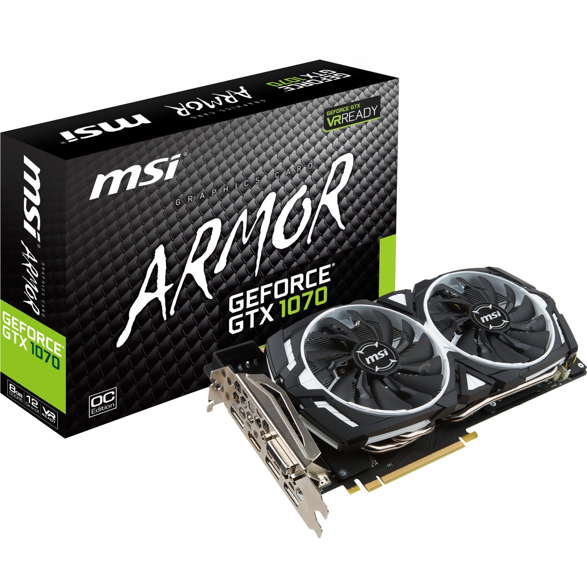 MSI Grafikkarte »GeForce GTX 1070 ARMOR 8G OC«