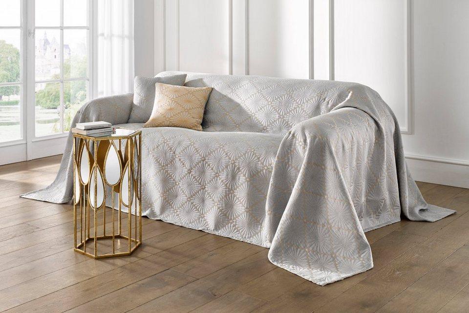 Heine Home Sofaüberwurf In Jaquard Qualität Kaufen Otto