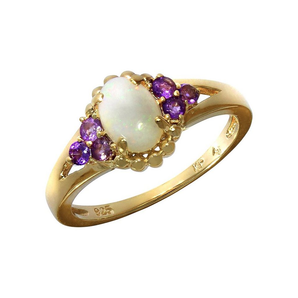 firetti ring 925 sterling silber vergoldet opal online. Black Bedroom Furniture Sets. Home Design Ideas