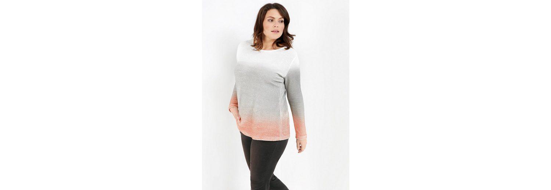 Vorbestellung Online Samoon T-Shirt Langarm Rundhals Struktur-Shirt mit Farbverlauf Sehr Billig Günstig Online Räumungsverkauf Online reTYV