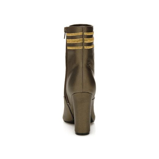 Guess Bootee Lucablu From Metallic Leather