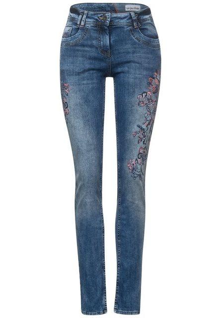 Hosen - Cecil Loose fit Jeans mit Blumen Stickerei ›  - Onlineshop OTTO