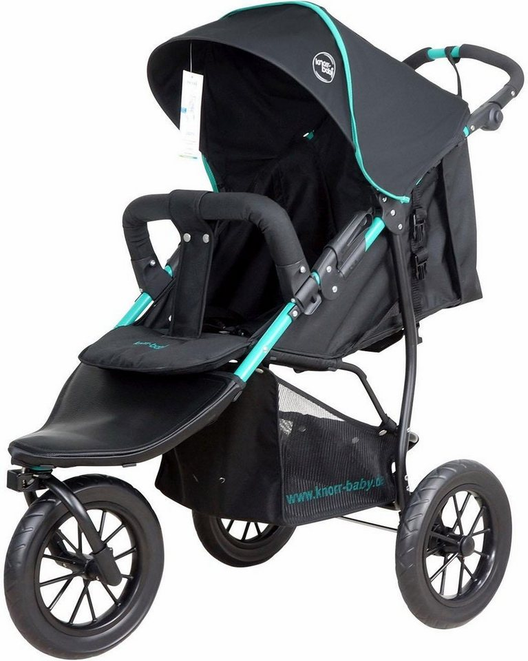 knorrbaby jogger kinderwagen joggy s schwarz gr n. Black Bedroom Furniture Sets. Home Design Ideas