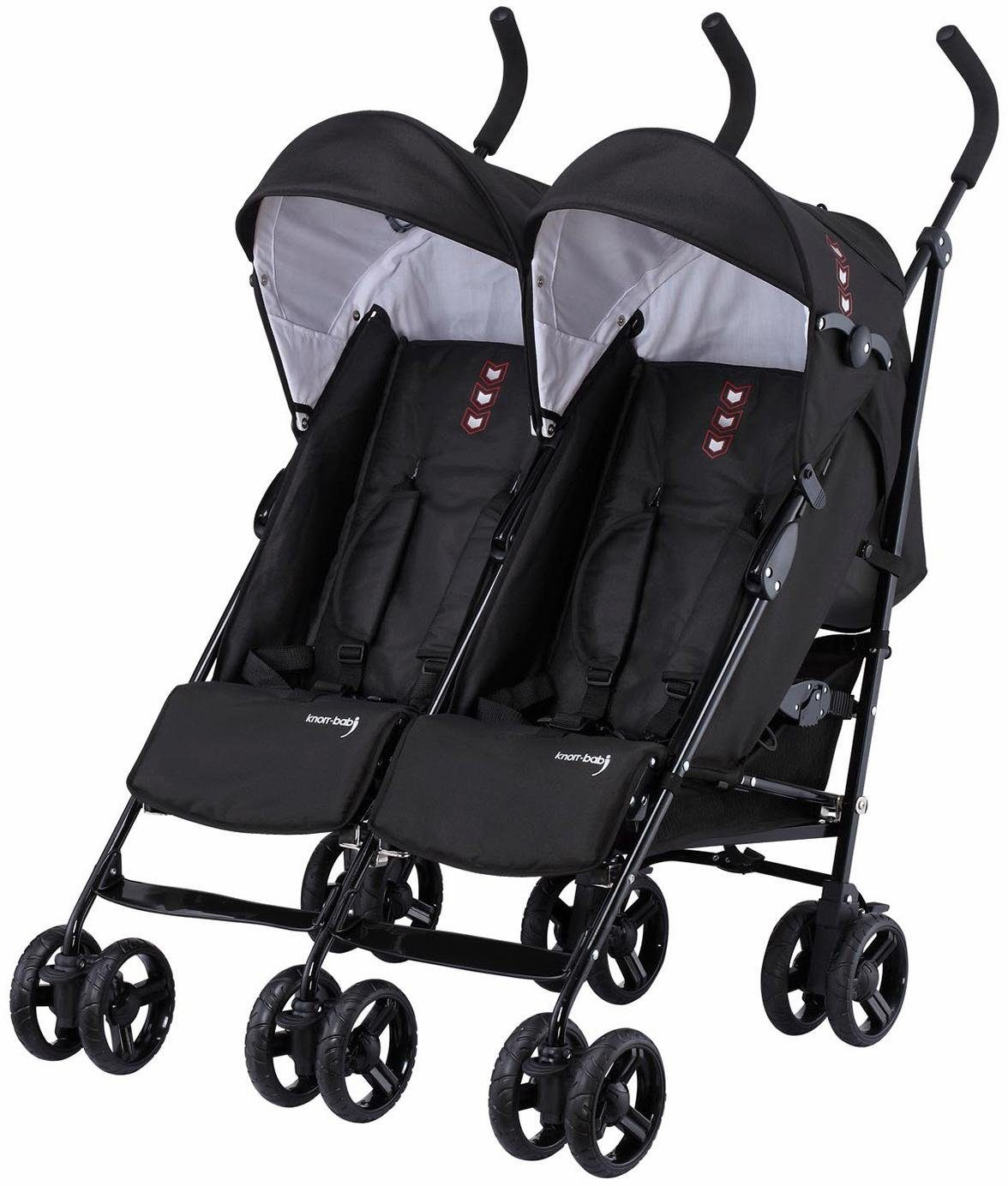 knorr-baby Zwillingsbuggy, »Side by Side, schwarz«