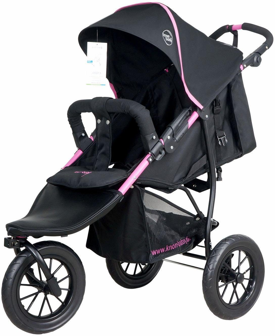 knorr-baby Jogger-Kinderwagen, »Joggy S, schwarz-fuchsia«