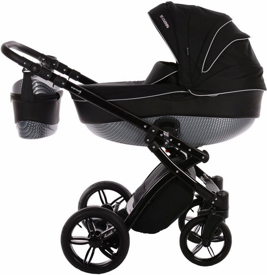 knorr baby kombi kinderwagen alive be carbon luxus schwarz grau online kaufen otto. Black Bedroom Furniture Sets. Home Design Ideas
