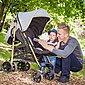 Knorrbaby Kinder-Buggy »Wood Art, schwarz-melange grau«, mit schwenk- und feststellbaren Vorderrädern, Bild 2