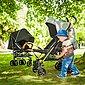 Knorrbaby Kinder-Buggy »Wood Art, schwarz-melange grau«, mit schwenk- und feststellbaren Vorderrädern, Bild 3