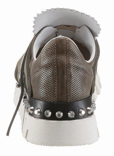A.S.98 Slip-On Sneaker, mit modischem Textileinsatz