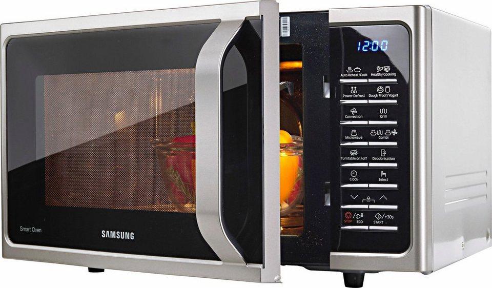 Samsung mikrowelle mc28h5015cs eg mikrowelle grill for Mikrowelle mit heissluft