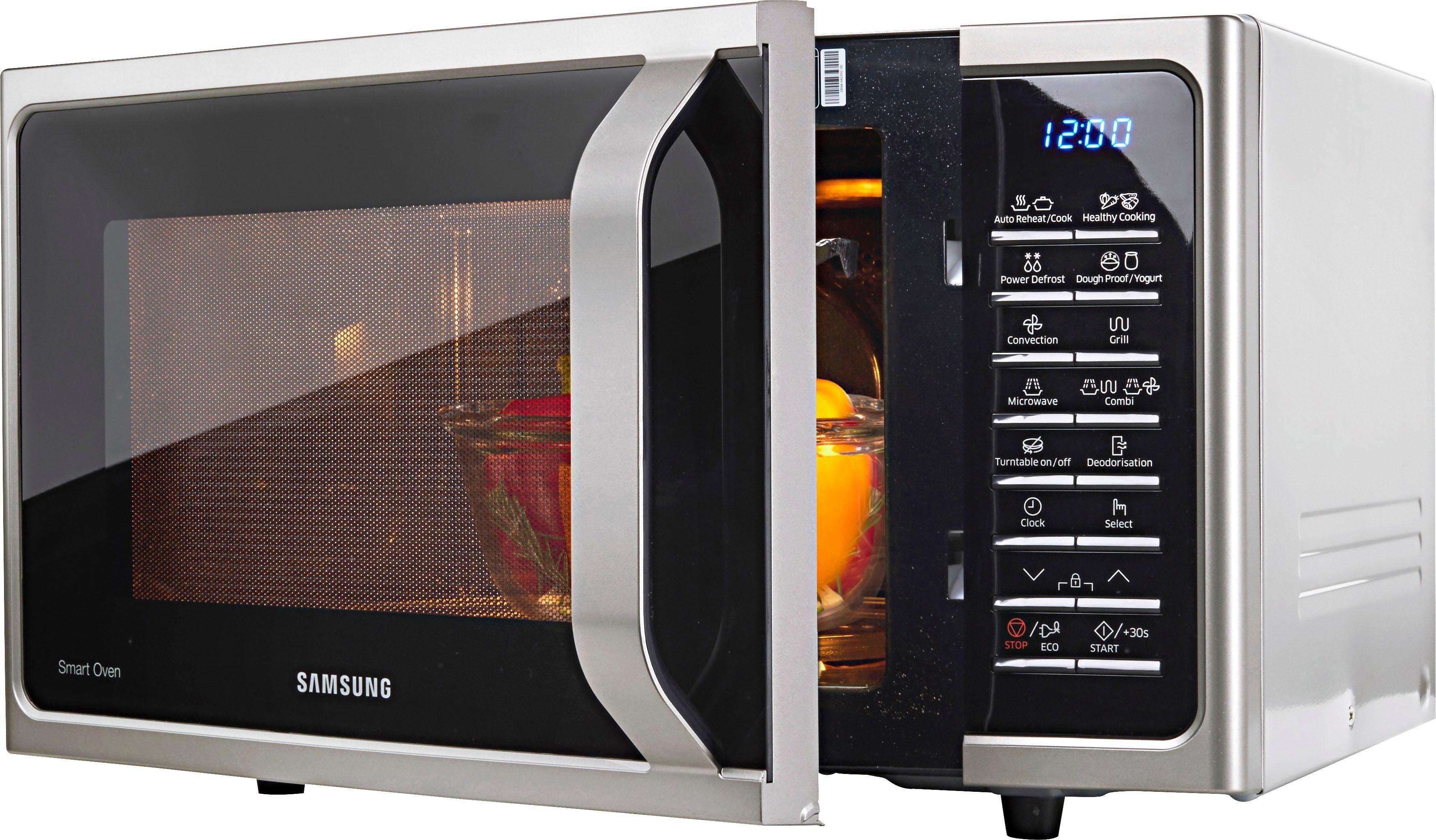 Samsung Mikrowelle MC28H5015CS/EG, 900 W, mit Grill und Heißluft