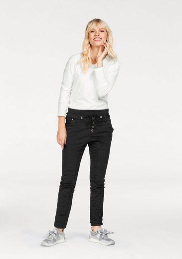 Please Jeans Langarmshirt, hinten länger geschnitten