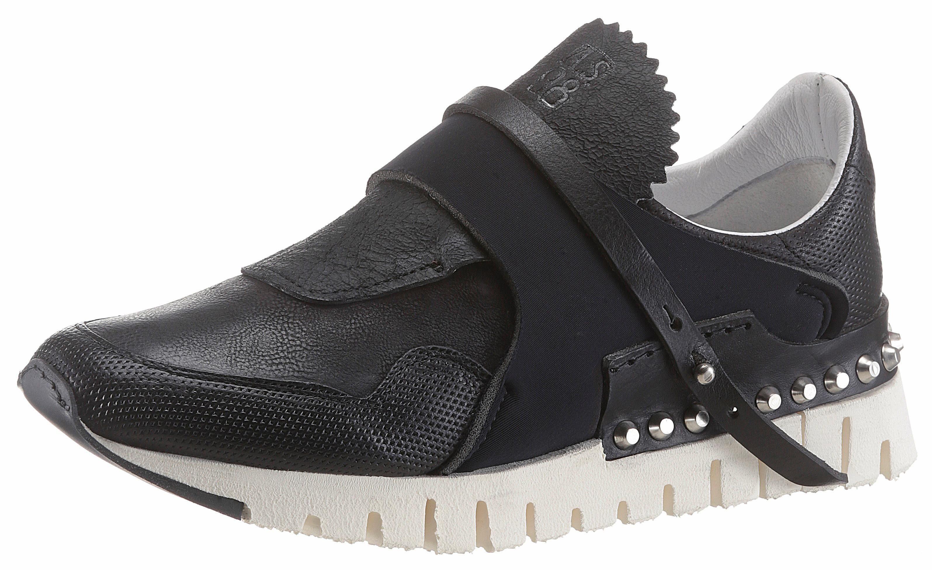 AS98 Slip-On Sneaker, mit modischem Textileinsatz online kaufen  schwarz
