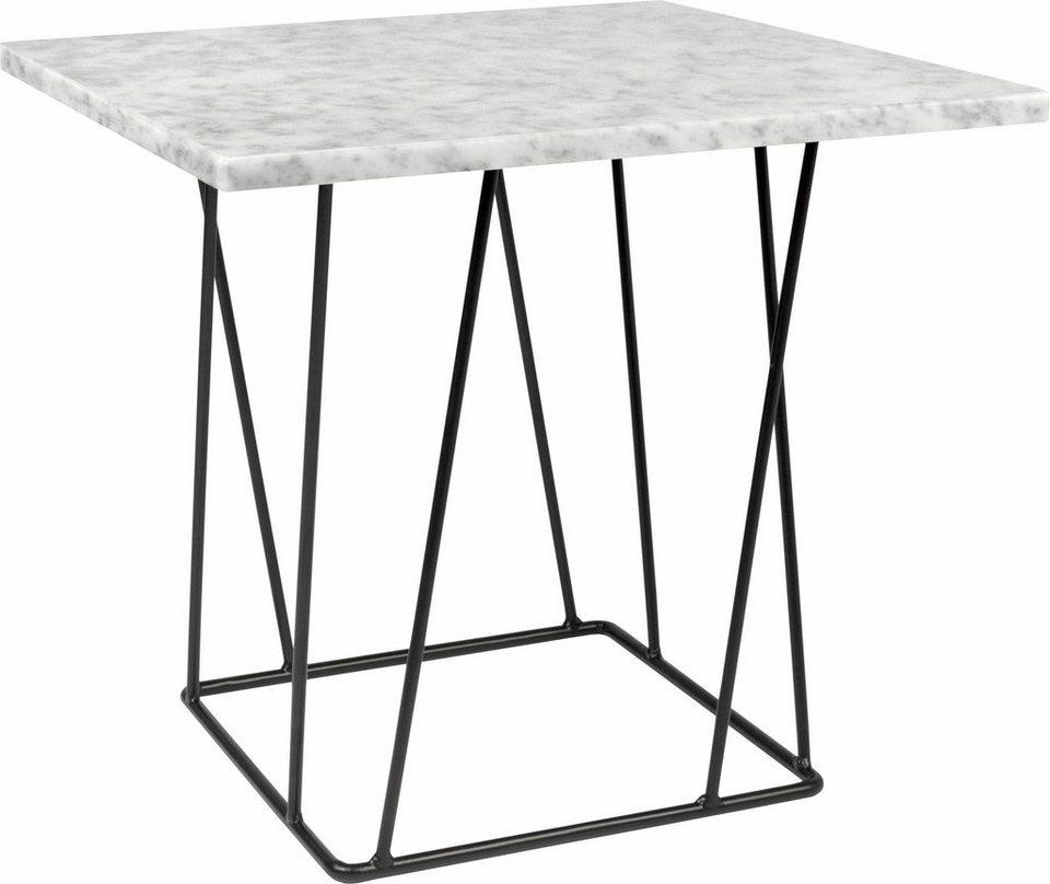 andas beistelltisch helix aus marmor wahlweise mit gestell aus schwarzem oder gr nem metall. Black Bedroom Furniture Sets. Home Design Ideas