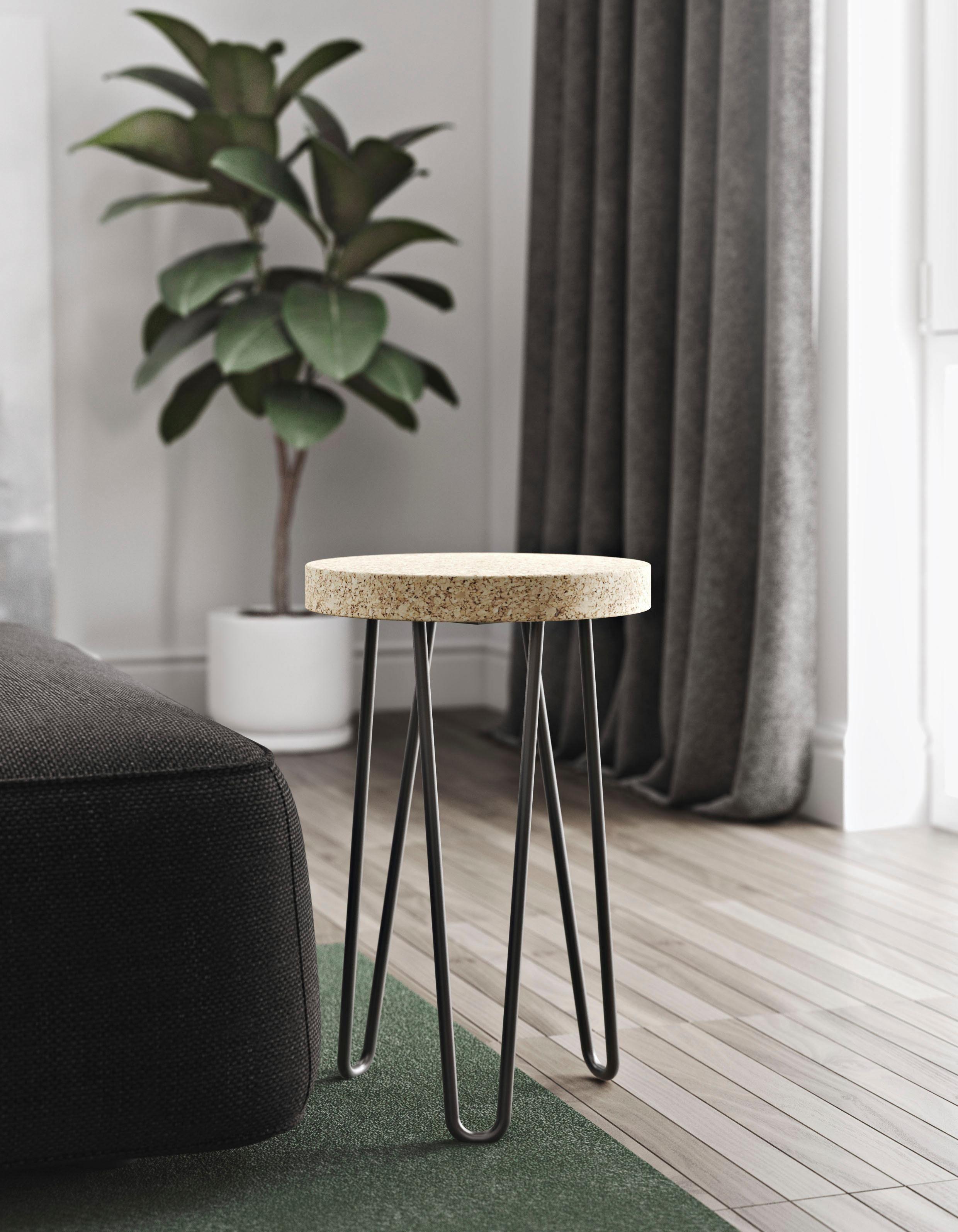 andas Beistelltisch »Drum« mit Tischplatte aus Kork