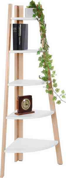andas Eckregal mit 5 Fächern, Höhe 140 cm