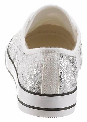 SURI FREY Suzy Sneaker, mit Pailetten aufwendig verziert