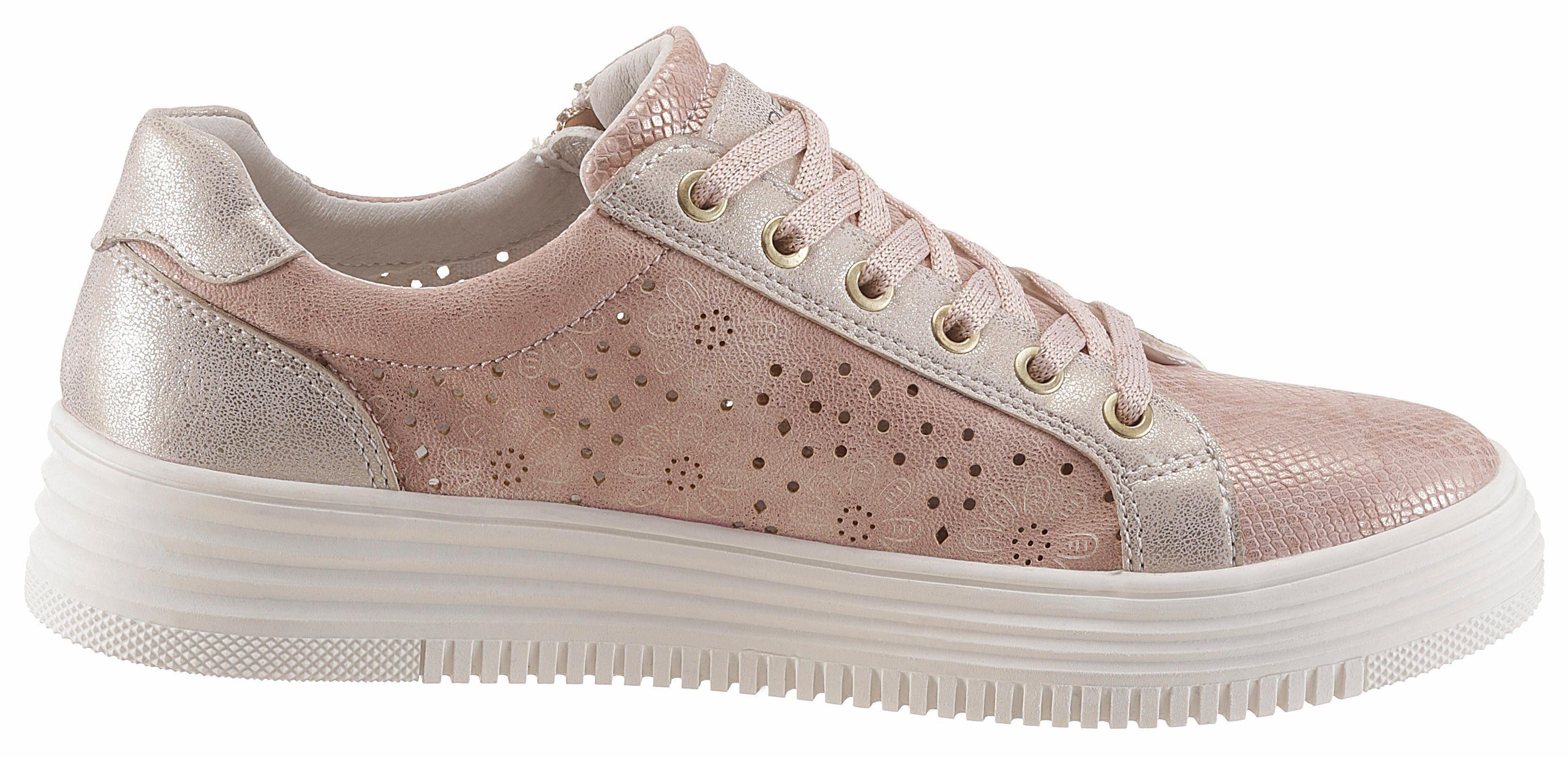 SURI FREY Romy Sneaker, mit modischen Zierreißverschluss außen online kaufen  rosé