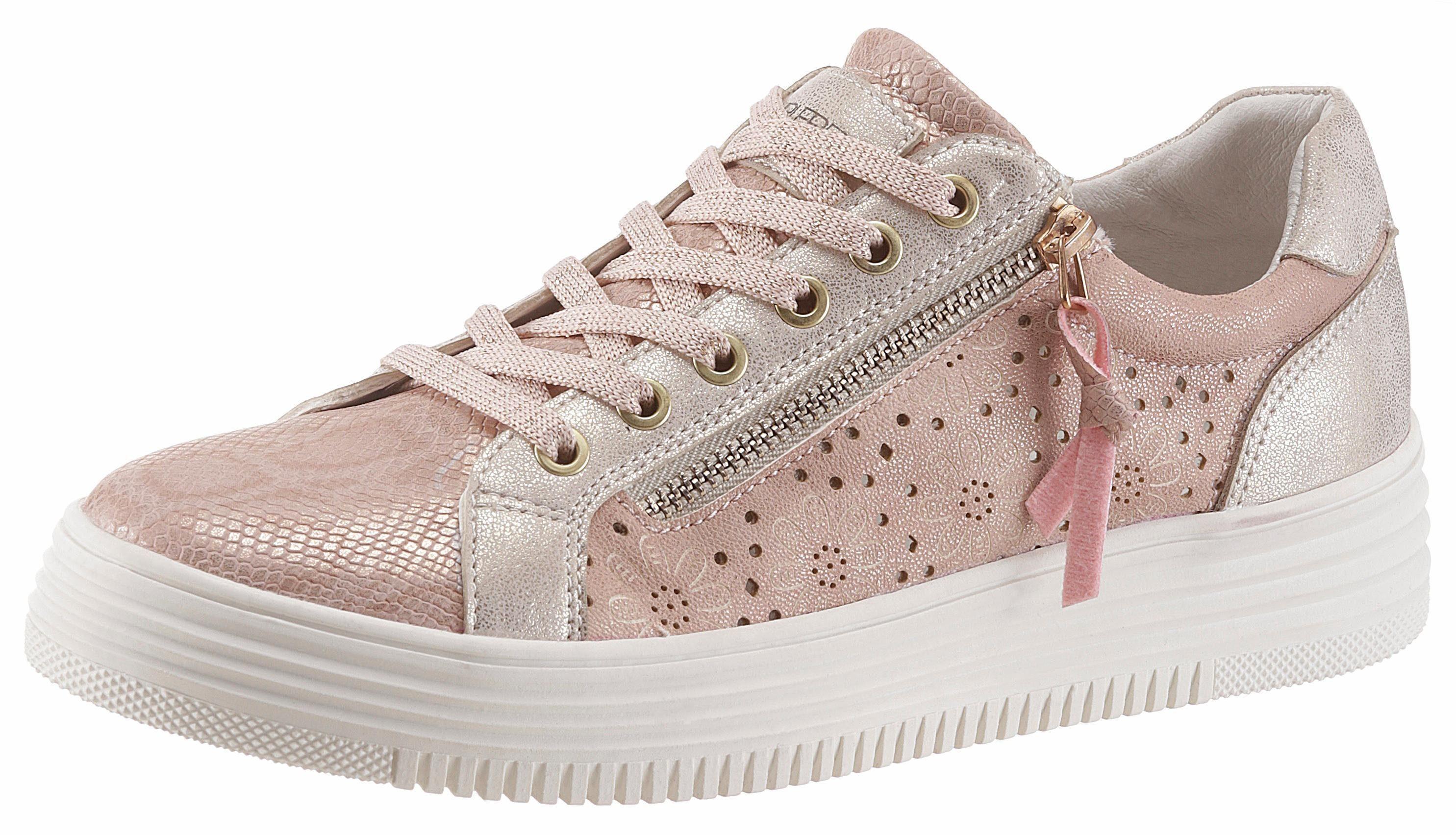 SURI FREY »Romy« Sneaker, mit modischen Zierreißverschluss außen, silberfarben, silberfarben