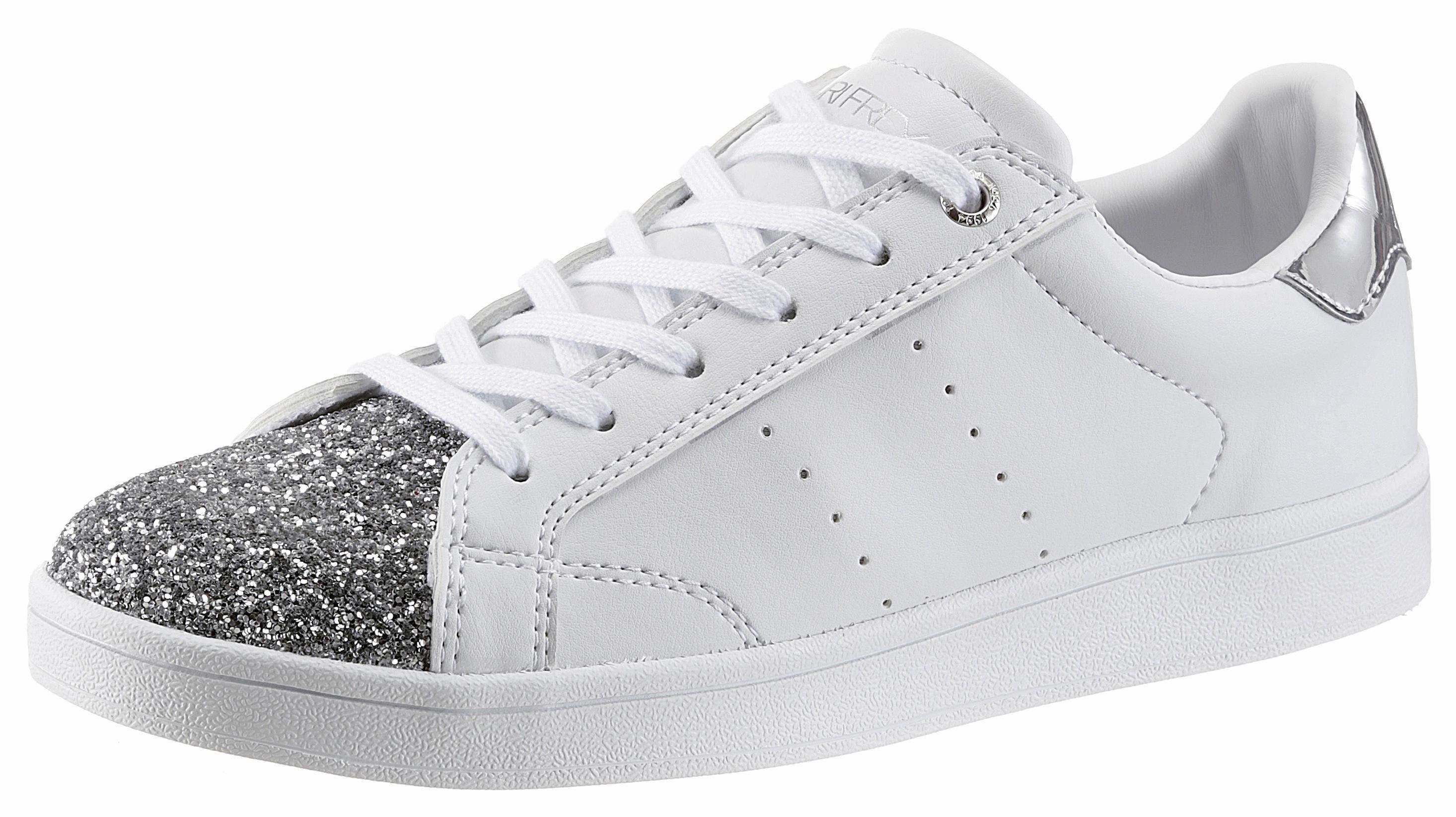 SURI FREY »Romy« Sneaker, mit funkelndem Glitzer, weiß, weiß-goldfarben