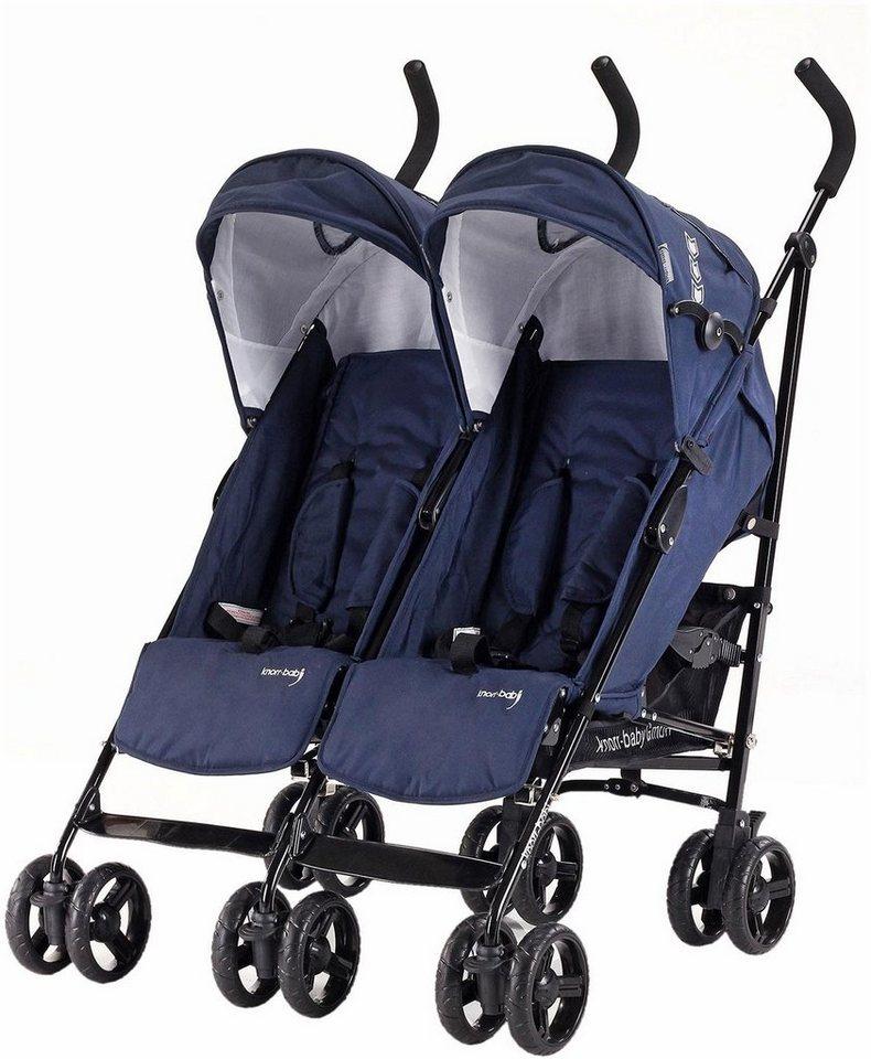 knorr baby zwillingsbuggy side by side navy blue. Black Bedroom Furniture Sets. Home Design Ideas
