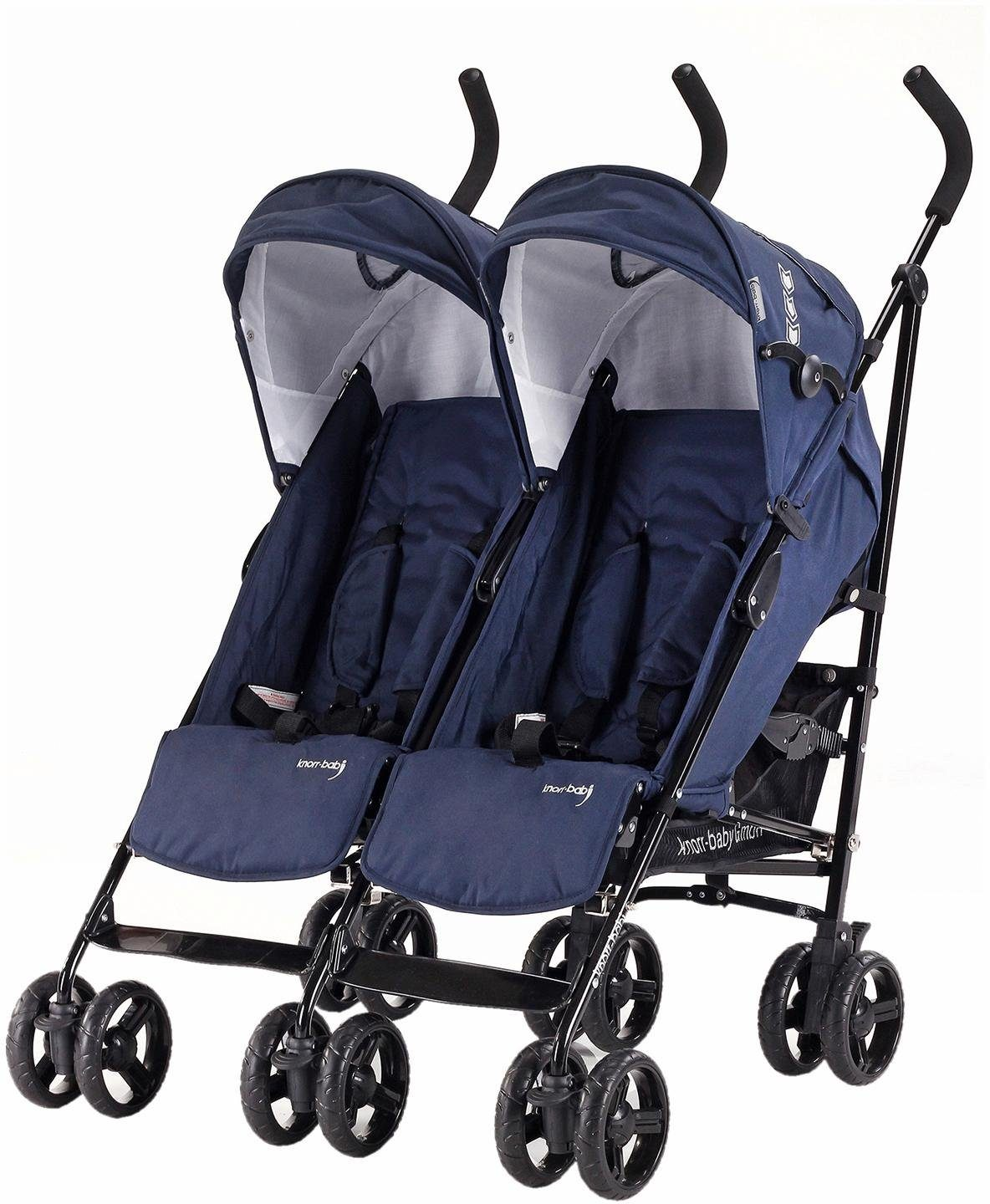 knorr-baby Zwillingsbuggy, »Side by Side, navy blue«