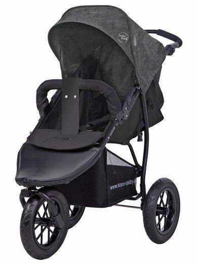 Knorrbaby Jogger-Kinderwagen »Joggy S Melange, dunkelgrau«