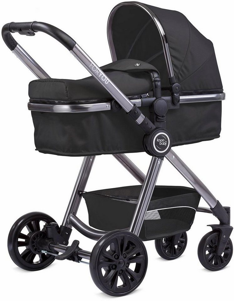 knorr baby kombi kinderwagen for you schwarz mit gestell in space grey online kaufen otto. Black Bedroom Furniture Sets. Home Design Ideas