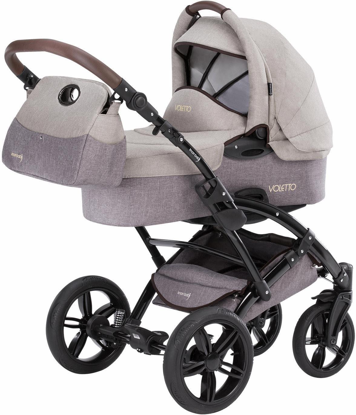 knorr-baby Kombi Kinderwagen Set, »Voletto Happy Colour, beige-braun«