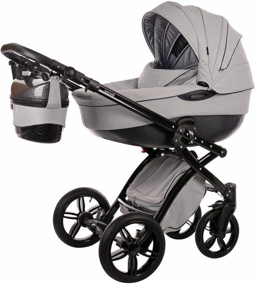 knorr baby kombi kinderwagen alive be carbon luxus grau schwarz online kaufen otto. Black Bedroom Furniture Sets. Home Design Ideas