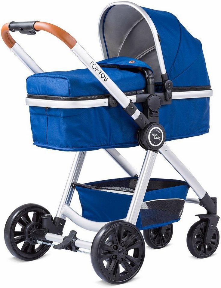 knorr baby kombi kinderwagen set for you blau mit gestell in silber online kaufen otto. Black Bedroom Furniture Sets. Home Design Ideas