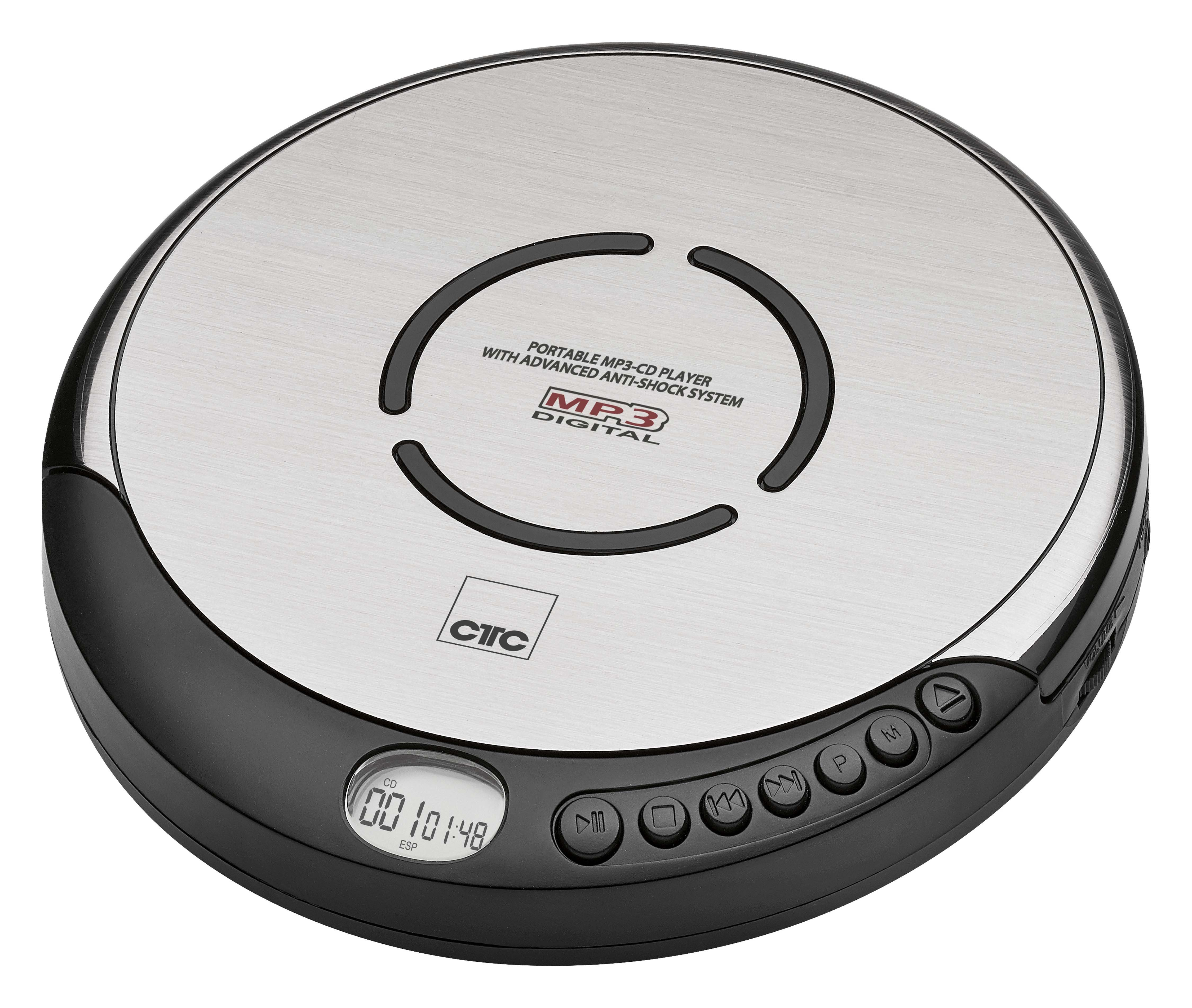 CTC Tragbarer CD-Player inkl. In-Ear-Kopfhörer und LCD-Display »CDP 7001«