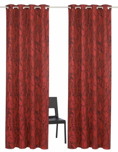 Vorhang »Bamian«, my home, Ösen (2 Stück), Breite 270 cm = 1 Stück --- Breite 130 cm = 2 Stück