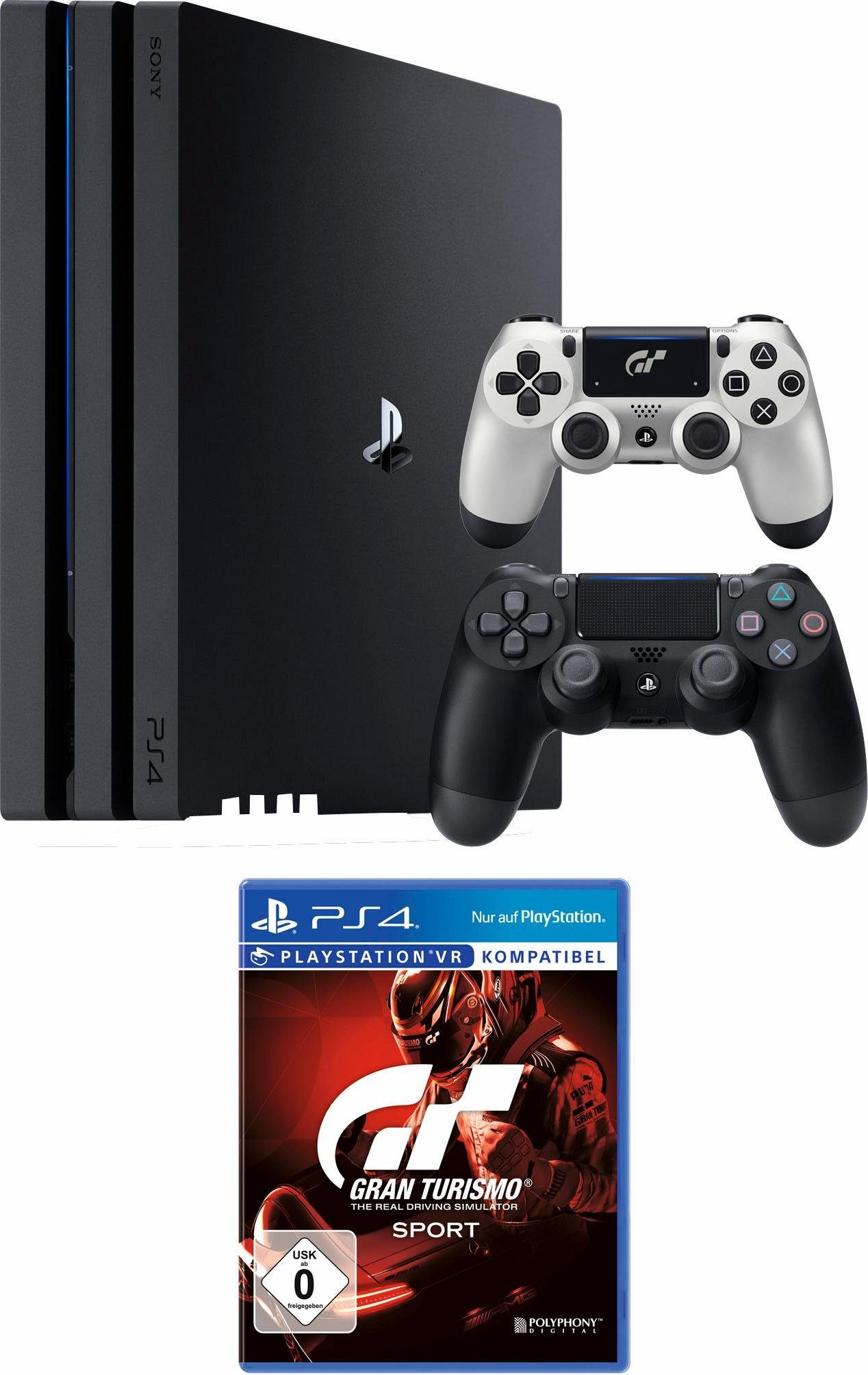PlayStation 4 (PS4) Pro 1TB + Gran Tourismo Sport + 2. Controller GT Sport Edition