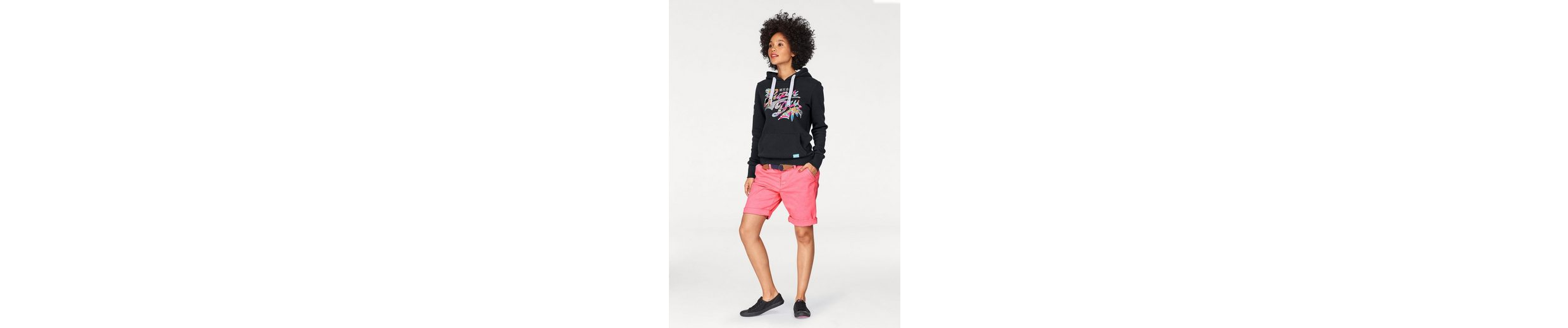 Superdry Kapuzensweatshirt STACKER TROPICAL ENTRY HOOD, mit floralem Logoprint