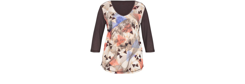 Niedrig Versandkosten Günstig Online Rabatt Fabrikverkauf Samoon T-Shirt 3/4 Arm Rundhals 3/4 Arm Shirt mit Front-Print Fabrikverkauf Günstiger Preis SUWrS
