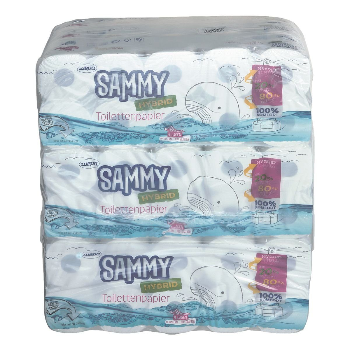 wepa Sammy Toilettenpapier »Hybrid«