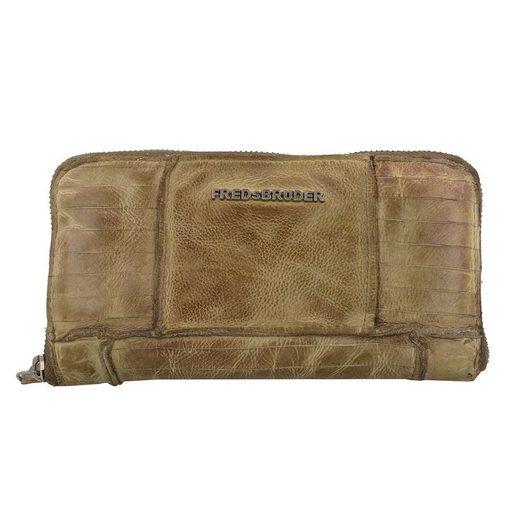 FREDsBRUDER S.C. Wallet Mega Geldbörse Leder 20 cm