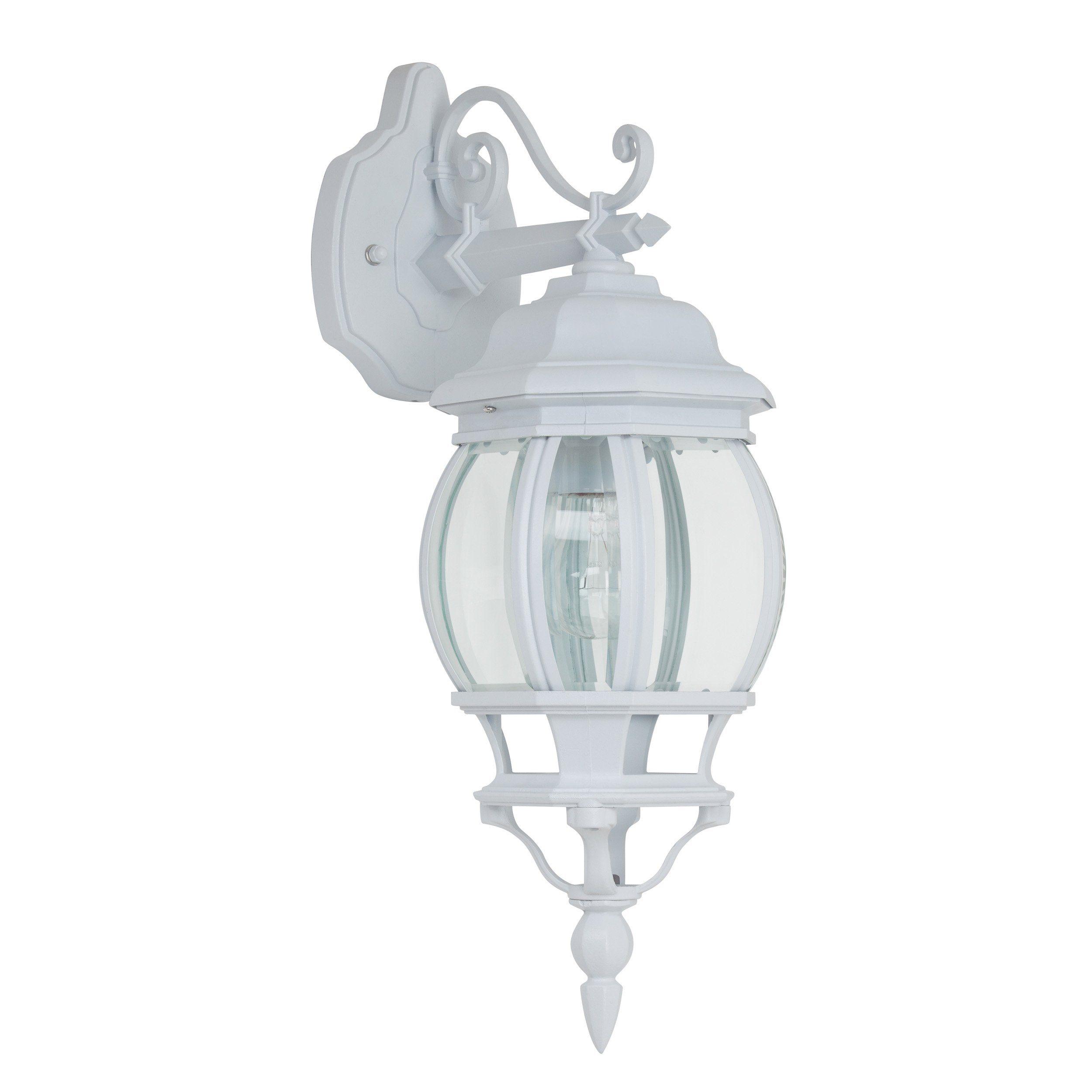 Brilliant Leuchten Istria Außenwandleuchte, hängend weiß/transparent IP23