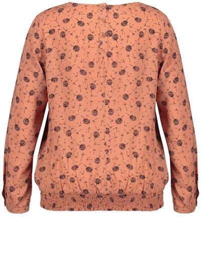 Samoon Bluse Langarm Blusenshirt mit elastischem Saum