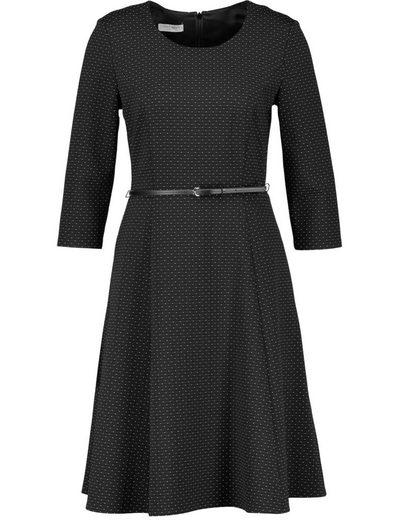 Gerry Weber Kleid Gewebe 3/4 Arm Kleid mit Taillengürtel