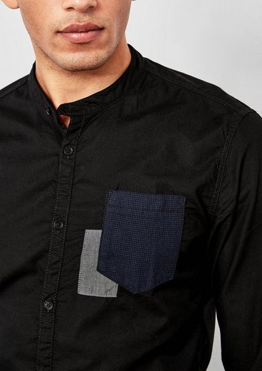 Q / S Designed By Extra-slim: Shirt With Stehkragen