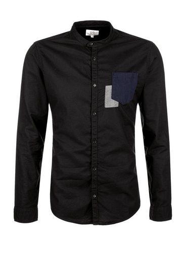 Q/S designed by Extra Slim: Hemd mit Stehkragen