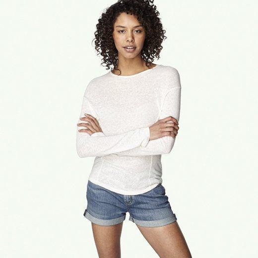 Oneill T-shirts Long-sleeved Linen Scooped Hem Top