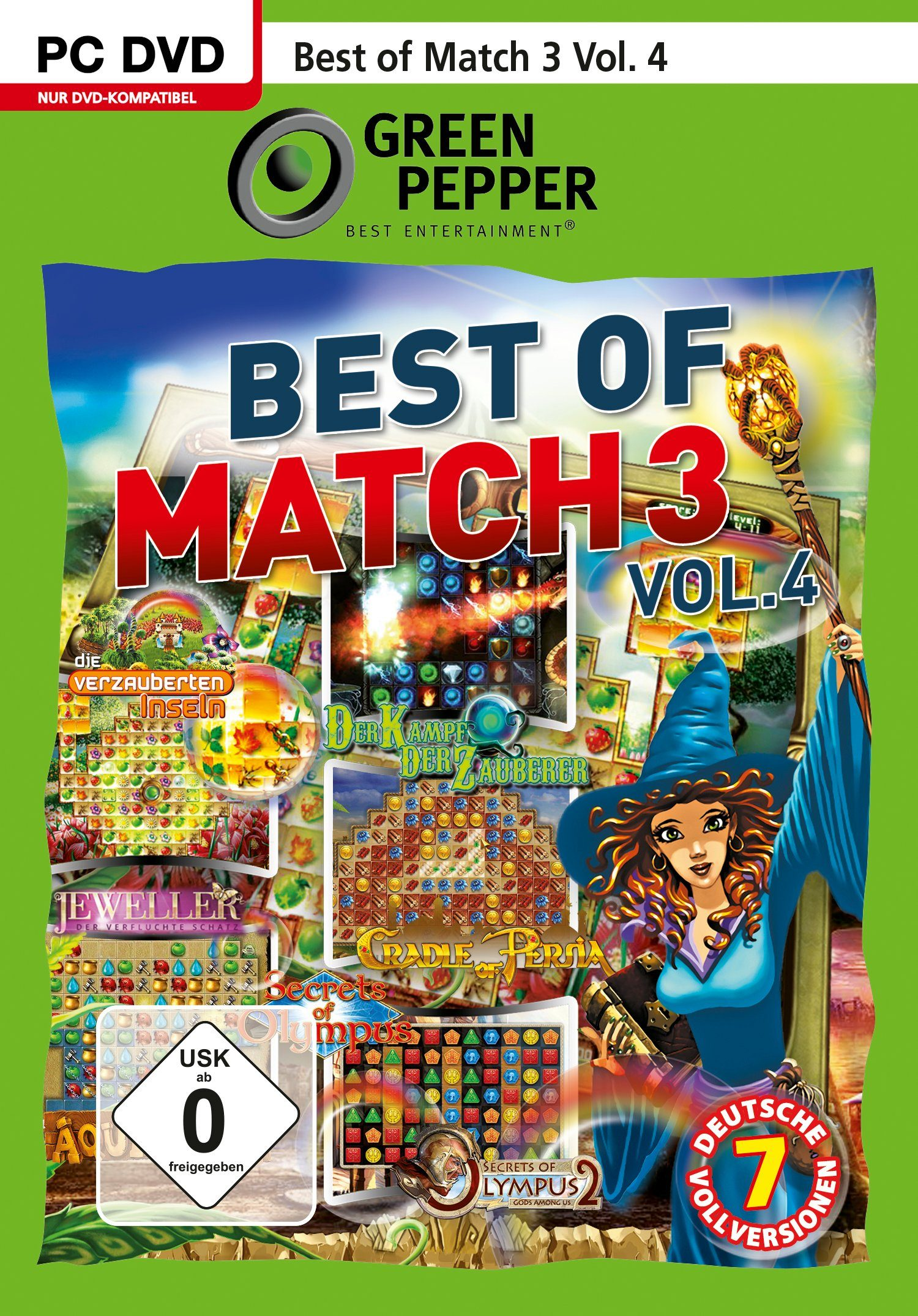 SAD Software Pyramide - Green Pepper PC Spiel »Best of Match 3 Vol. 4«
