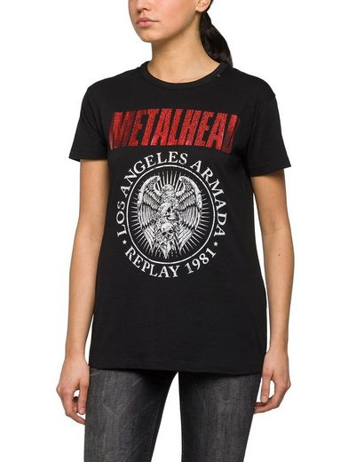 "Replay T-Shirt ""Metalhead - Los Angeles"""