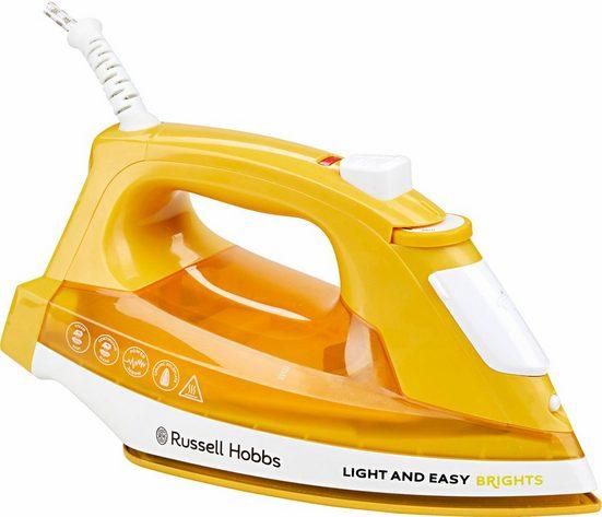 RUSSELL HOBBS Dampfbügeleisen Light&Easy Brights 24800-56, 2400 W, mit antihaftversiegelter farbiger Keramik-Bügelsohle