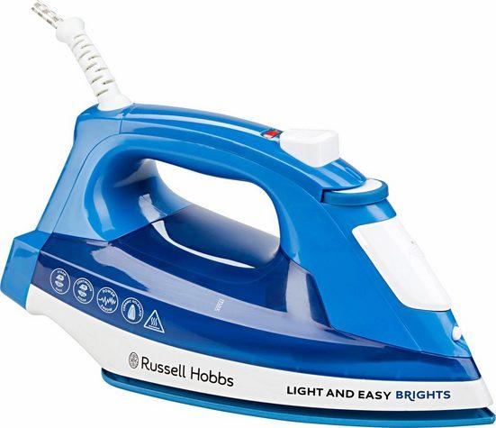 RUSSELL HOBBS Dampfbügeleisen Light&Easy Brights 24830-56, 2400 W, mit antihaftversiegelter farbiger Keramik-Bügelsohle