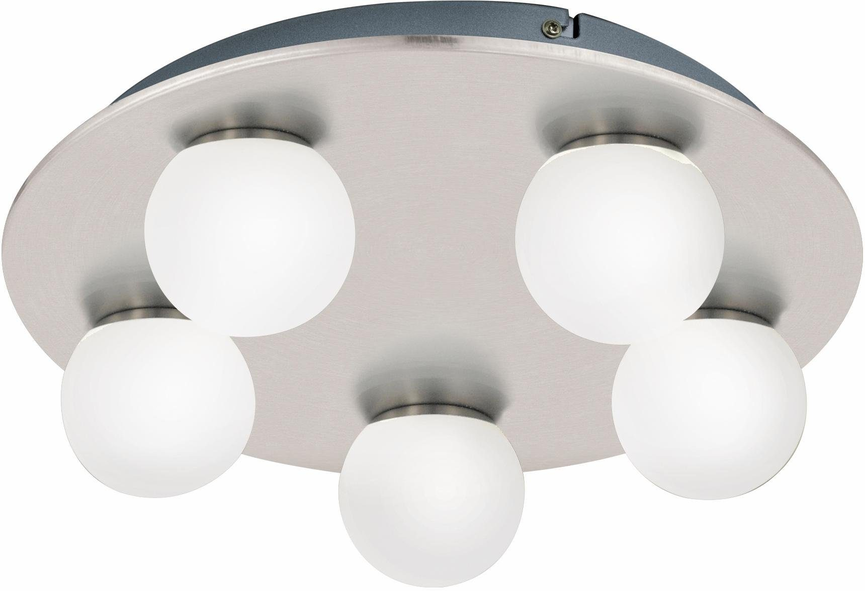 Eglo LED Wand- Deckenleuchte, Badleuchte, 5flg., Ø 35 cm, »MOSIANO«